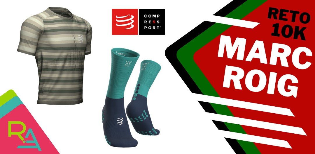 Reto virtual Marc Roig 10k, premios: Lote de productos Compressport