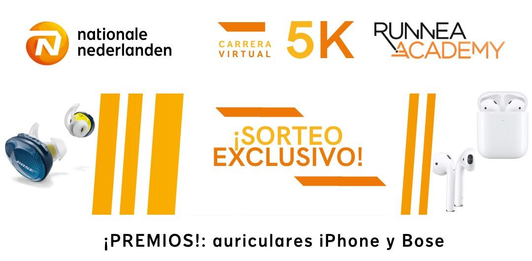 carrera virtual Tus 5km más rápidos: premios